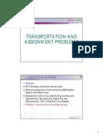 OD Transport Assignment 2012