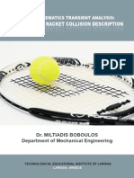 Tennis Kinematics Transient Analysis a Ball Spin Racket Collision Description