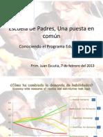 Escuela de Padres, Una puesta en común 7 de febrero 2013 video