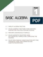1.0 Basic Algebra
