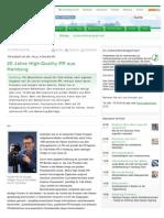 PR-Agentur Dr. Falk Köhler PR - 20 Jahre High-Quality-PR aus Hamburg