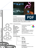Color Therapy LED Lamp Datasheet