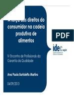 A Forca Do Consumidor Cadeia Produtiva Alimentos Ana Paula