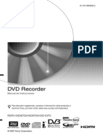 Instrucciones Dvd Sony RDR-HXD970B