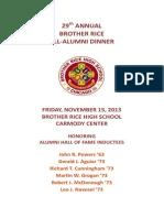 Brother Rice Alumni Dinner Ad Book 2013