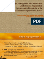 Single Flap Approach With and Without Guided Tissue