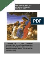 Message de Noël de l'archevêque de Bangui (Centrafrique)
