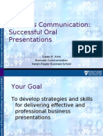 3937112 Business Communication Successful Oral Presentations