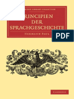 H. Paul Principien Der Sprachgeschichte Cambridge Library Collection Linguistics