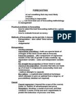 Forecasting Notes1