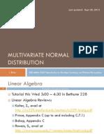 03 Multivariate Normal Distribution