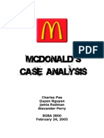 McDonald's Case Analysis