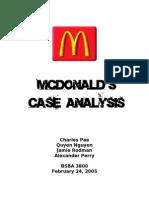 principles marketing mcdonalds case analysis