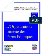 L'Organisation Interne des Partis Politiques - Port-au-Prince- Avril 2003
