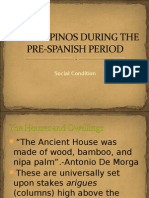 the filipinos during the pre-spanish period