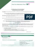 Wildrose fundraising letter