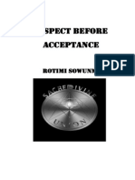 Respect Before Acceptance Excerpt