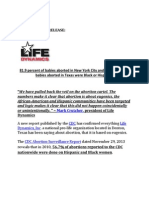 New CDC Report Proves Abortion is About Eugenics