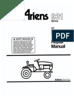 Wheel Horse Hydraulic Lift Valve & Cylinder Repair Manual