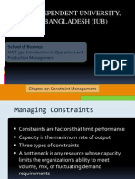 CONSTRAINT MANAGEMENT FOR OPERATIONAL MANAGEMENT