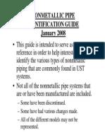 NONMETALLIC PIPE IDENTIFICATION GUIDE