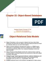 Ch22 - Object-Based Databases -RDBMS