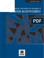 Legionnaires Disease Information for Providers of Residential Accommodation