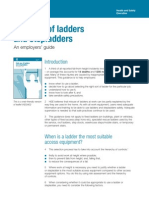 Safe Use of Ladders and Stepladders - An Employers Guide