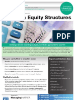 Law Firm Equity Structures