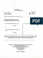 Rowe Entertainment, Inc. et al. v. William Morris Agency, et al. (98-8272) -- Plaintiffs' Opp. Attorneys Fees and Costs [May 9, 2005]