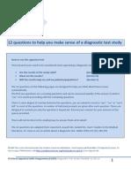 CASP Diagnostic Test Checklist 31.05.13