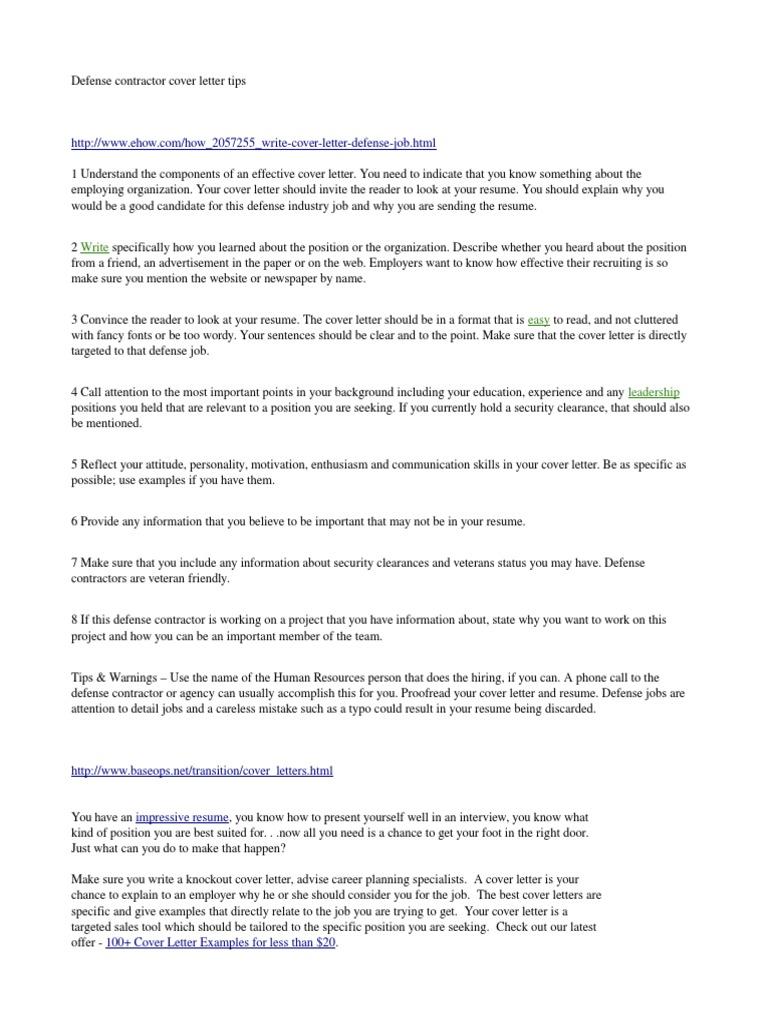D-Contractor Letter Examples | Résumé | Security Guard