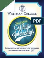 Whittie Internships 2013
