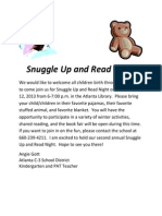 2013-12-12. Snuggle Up and Read Night