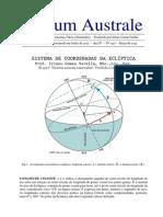 Sistema de Coordenadas da Eclíptica