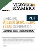 Llevando A Cabo Entrevistas Seguras, Efectivas y Éticas Con Sobreviventes de Violencia Basada en Género o Sexual