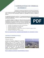 Centrales Generadoras de Energia en Mexico