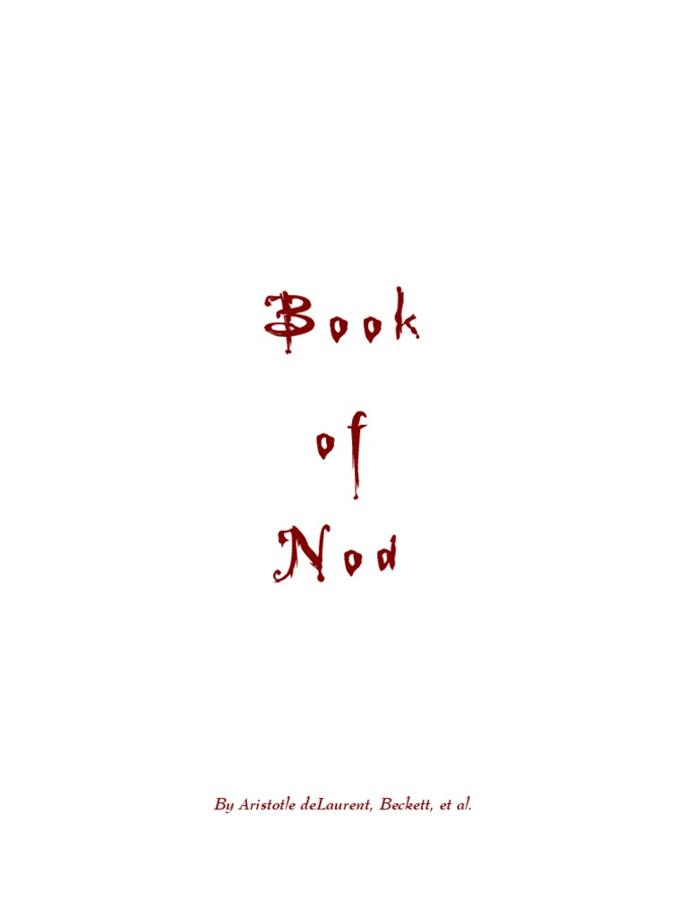 WOD - Vampire - The Masquerade - Book of Nod (Text Only