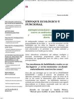 ENFOQUE ECOLÓGICO Y FUNCIONAL - Educacion Especial UIDAD