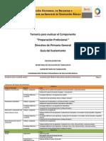 Temario Evaluacion Para Preparacion Profesional