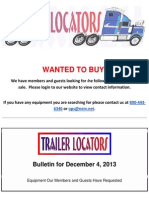 Wanted to Buy - December 4, 2013