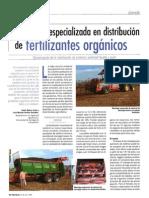 Maquinaria Especializada en Distribucion de Fertilizantes Organicos