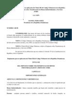 Reglamento No. 140-98 para la aplicación del Título III del Código Tributario de la República Dominicana, del Impuesto sobre Transferencias de Bienes Industrializados y Servicios (ITBIS)