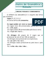 Ficha de gramática 3º ano