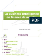 Business Intelligence en Finance de Marche