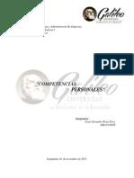 Analisis sobre la Autoevaluación de las Competencias Personales