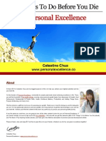 101 Things to Do Before You Die (Personal Excellence)