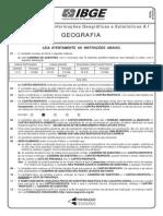 Prova 21 - Tecnologista - Geografia