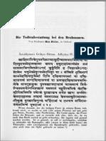 Die Todtenbestattung Bei Den Brahmanen