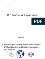 LTE Post Launch Overview